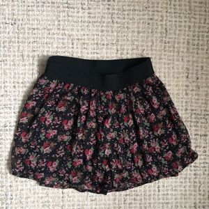 Express Floral Print Skirt Pants